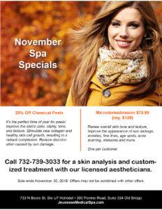 November spa specials